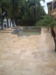 custom concrete pool deck