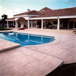 stamp concrete pool patio