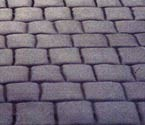 Cobblestone concrete stamp pattern